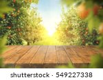 wooden table place of free... | Shutterstock . vector #549227338