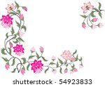 illustration with pink floral... | Shutterstock .eps vector #54923833