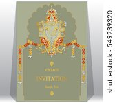 indian invitation card... | Shutterstock .eps vector #549239320