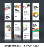 abstract business vector set of ... | Shutterstock .eps vector #549244564
