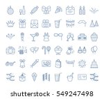 set of simple linear party... | Shutterstock .eps vector #549247498