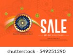 creative sale banner or sale... | Shutterstock .eps vector #549251290