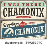 chamonix mont blanc retro... | Shutterstock .eps vector #549251740