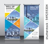 roll up brochure flyer banner... | Shutterstock .eps vector #549255304