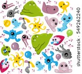 crazy monsters pattern with... | Shutterstock .eps vector #549262240