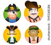 set of four round of avatars... | Shutterstock .eps vector #549268186