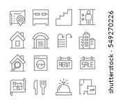 real estate icons on white... | Shutterstock .eps vector #549270226