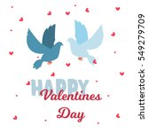 valentine day 14 february... | Shutterstock .eps vector #549279709