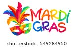 mardi gras colorful carnival... | Shutterstock .eps vector #549284950