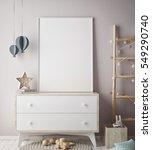 mock up poster frame in... | Shutterstock . vector #549290740