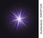 blue and purple glowing star... | Shutterstock . vector #549297154