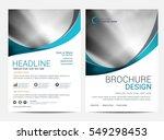 brochure template flyer... | Shutterstock .eps vector #549298453