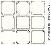 decorative frames  set 45  | Shutterstock .eps vector #549304978