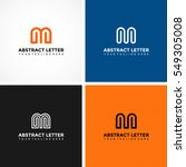 abstract letter m logo template.... | Shutterstock .eps vector #549305008