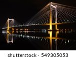 Cable Bridge Connecting cities Kennewick and Pasco, Washington.