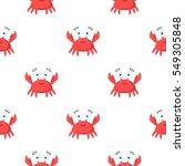 crab cartoon icon. illustration ... | Shutterstock .eps vector #549305848