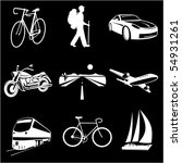 vector icons of transport | Shutterstock .eps vector #54931261