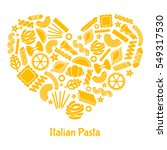 italian pasta. illustration in... | Shutterstock .eps vector #549317530