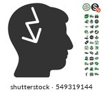 brain electric strike icon with ...
