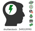 brain electric shock pictograph ... | Shutterstock .eps vector #549319990