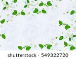 composition of white jasmine... | Shutterstock . vector #549322720