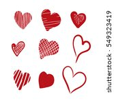 hand drawn hearts. design... | Shutterstock . vector #549323419