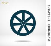 wheel disks icons  vector best... | Shutterstock .eps vector #549324643