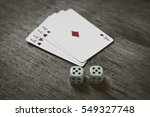 Four Aces Playing Cards And Tw...