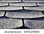 roof with asphalt shingles is... | Shutterstock . vector #549329893
