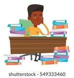 african american student... | Shutterstock .eps vector #549333460