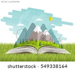 open book of happy family... | Shutterstock .eps vector #549338164