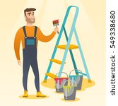 male house painter holding a...   Shutterstock .eps vector #549338680