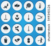 set of 16 editable farm icons.... | Shutterstock . vector #549340126