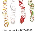 colorful streamers | Shutterstock . vector #549341368