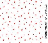 heart hand drawn seamless... | Shutterstock . vector #549346063