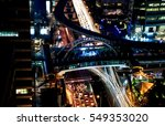 long exposure photo of traffic... | Shutterstock . vector #549353020