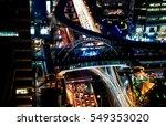 long exposure photo of traffic...   Shutterstock . vector #549353020