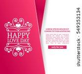 template design valentine... | Shutterstock .eps vector #549353134