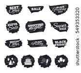 ink brush sale stripes and... | Shutterstock . vector #549353320