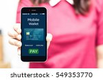 mobile payment concept.female...   Shutterstock . vector #549353770
