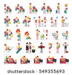 set of people on white... | Shutterstock .eps vector #549355693