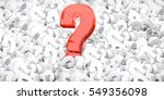 Question Marks 3d Render