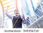 successful businessman with... | Shutterstock . vector #549356710