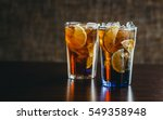 long island ice tea tequila... | Shutterstock . vector #549358948
