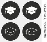 graduation cap vector icons set.... | Shutterstock .eps vector #549359614