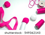 accessories for sewing lie on a ... | Shutterstock . vector #549362143