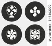fan vector icons set. white... | Shutterstock .eps vector #549363070