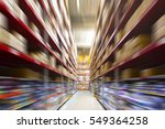 blurred warehouse or... | Shutterstock . vector #549364258