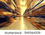 blurred warehouse interior | Shutterstock . vector #549364339