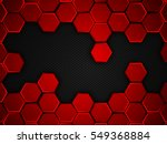 abstract red and black... | Shutterstock .eps vector #549368884